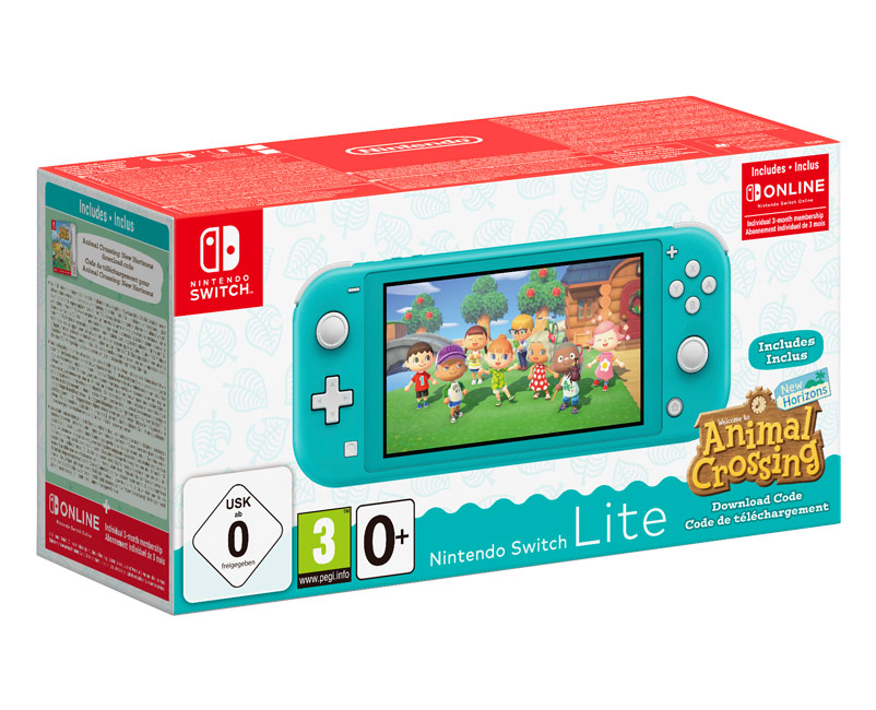 Switch Lite Turquoise + Animal Crossing
