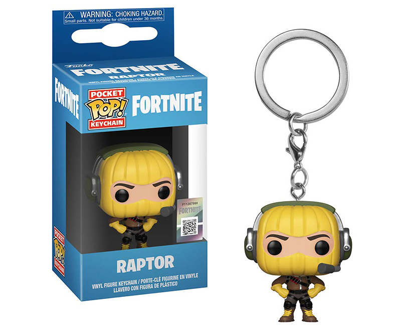 Funko keychain Fortnite Raptor